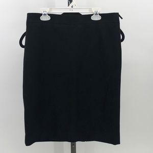 J. Crew The Pencil Skirt in black size 6 NWT AX22